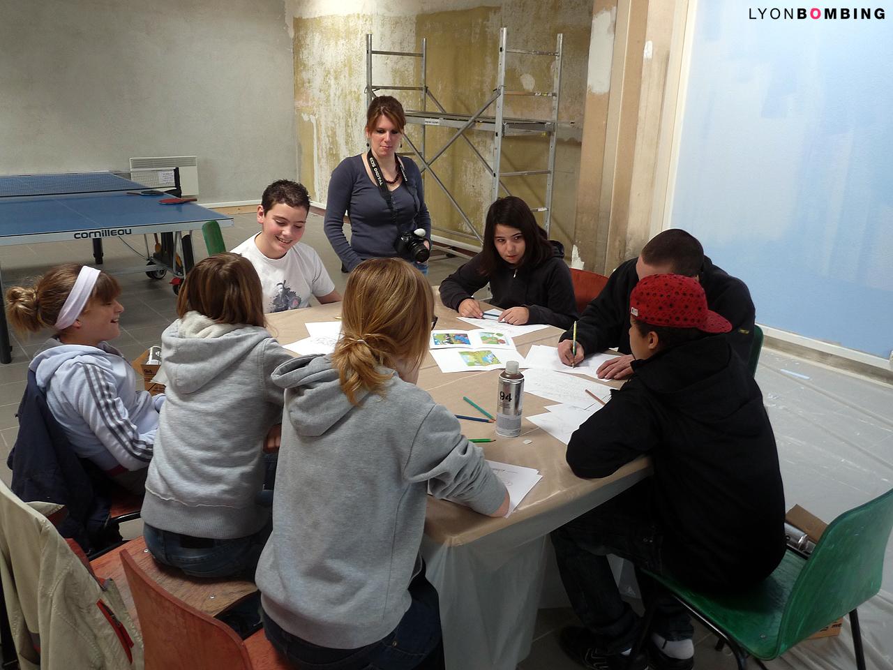 Atelier maquette graffiti Lozanne