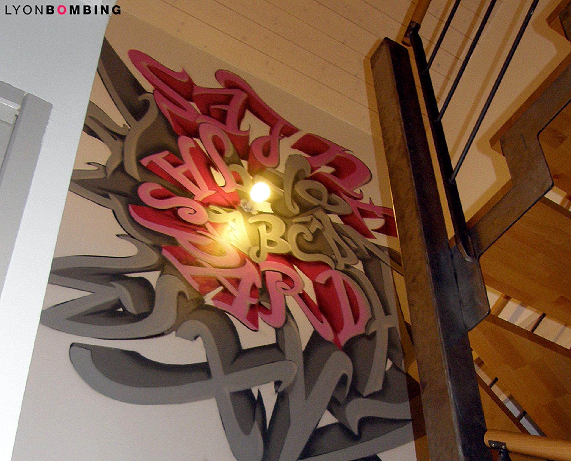 Descente d'escalier graffiti