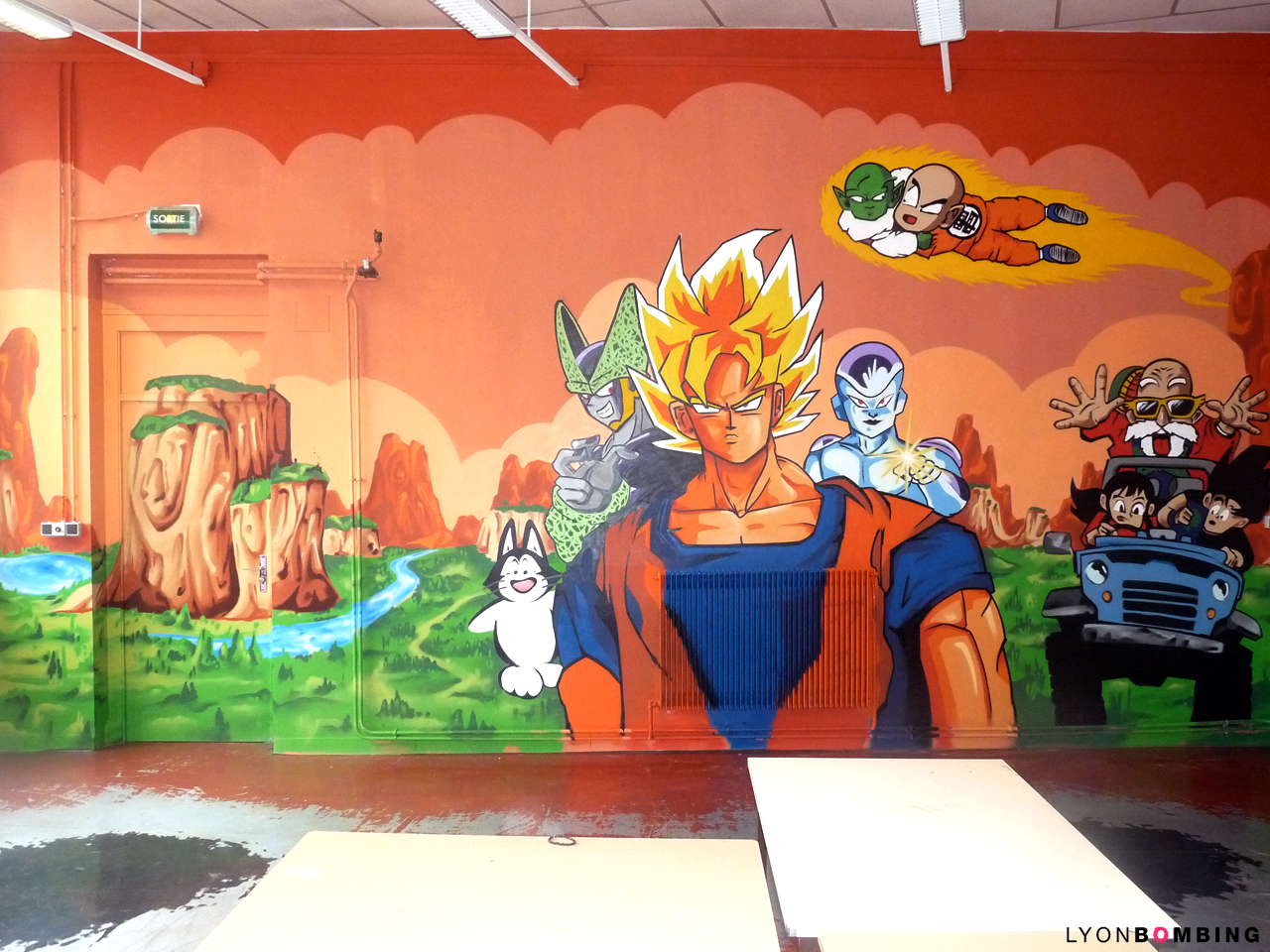 Décoration graffiti Dragon Ball Z