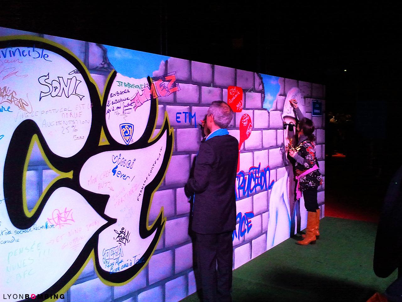 Animation graffiti soirée d'entreprise