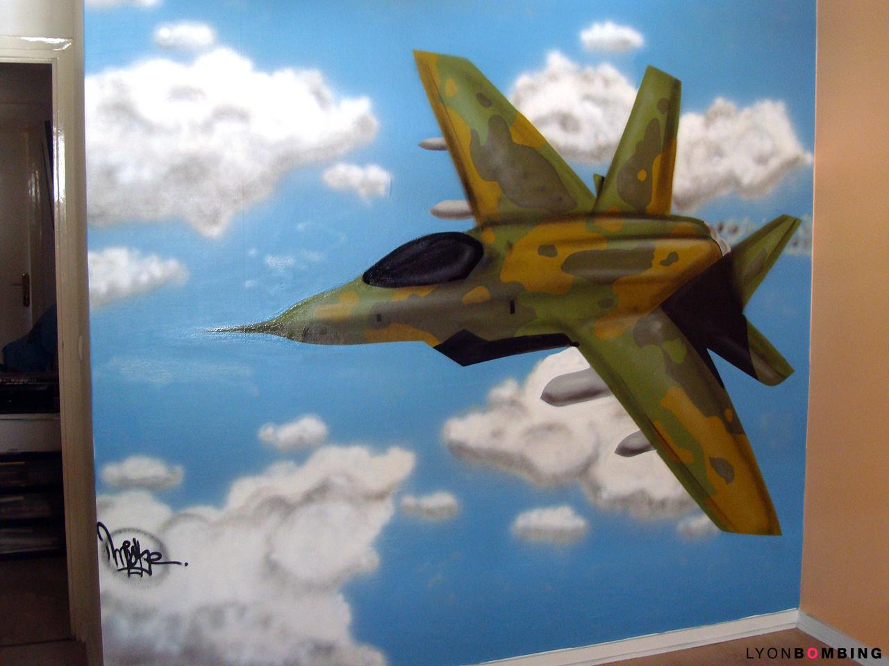 Chambre avion de chasse