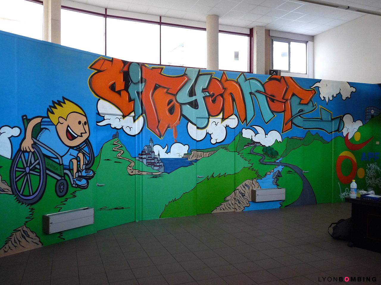 Déco graffiti APF Villeurbanne