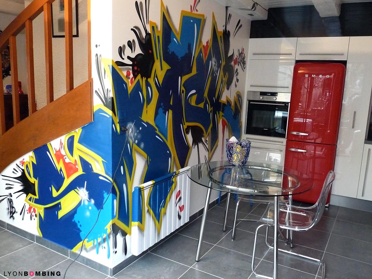 Déco graffiti cuisine