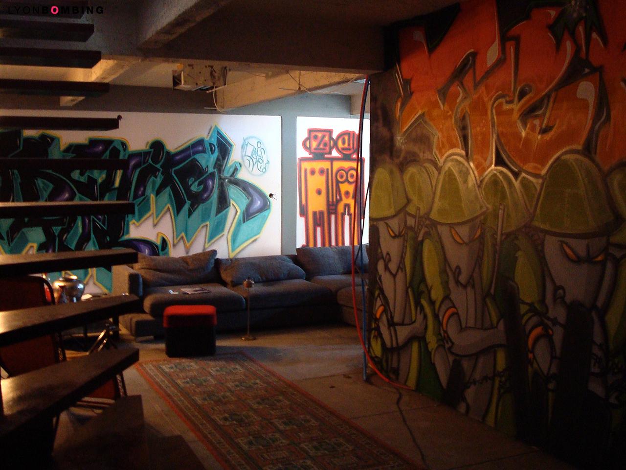 Ambiance graffiti dans un loft