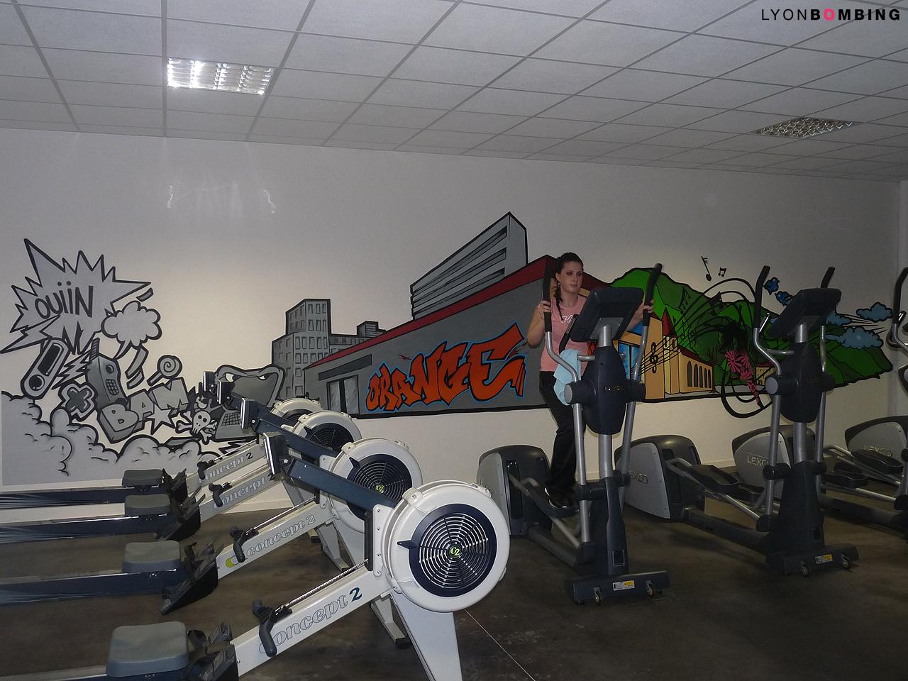 Déco intérieur salle de sport