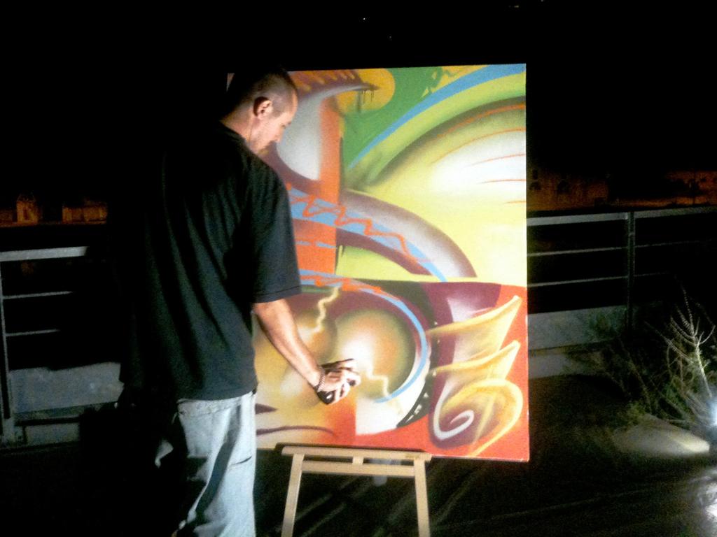 Démonstration graffiti évènement