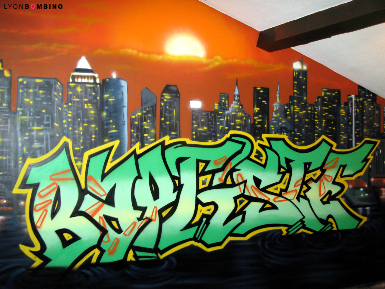 Graffiti chambre Baptiste