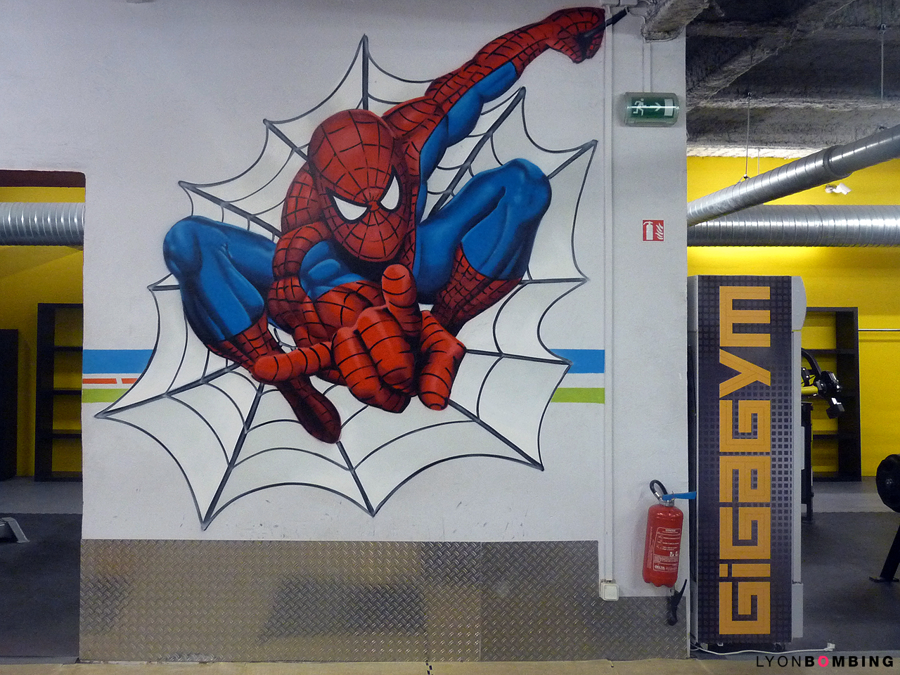 Spiderman graffiti