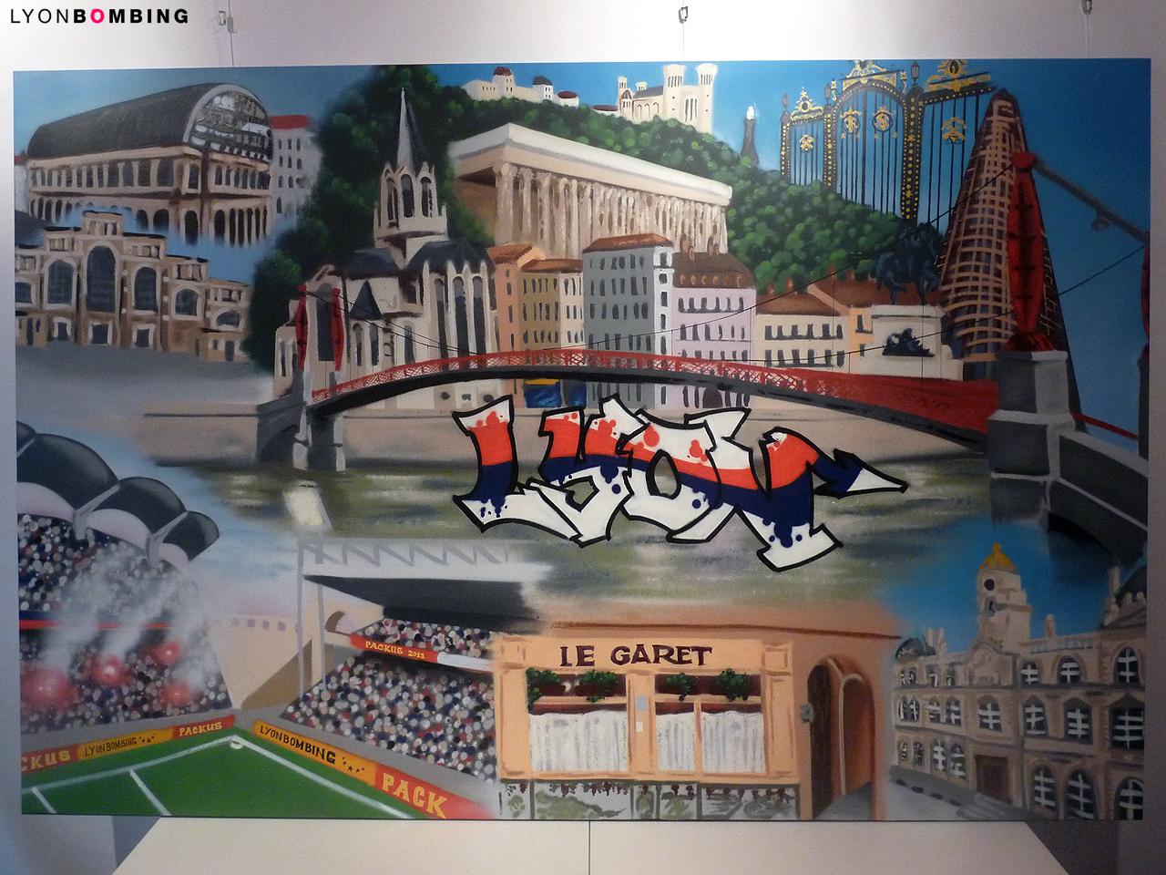 Toile Les 7 merveilles de Lyon