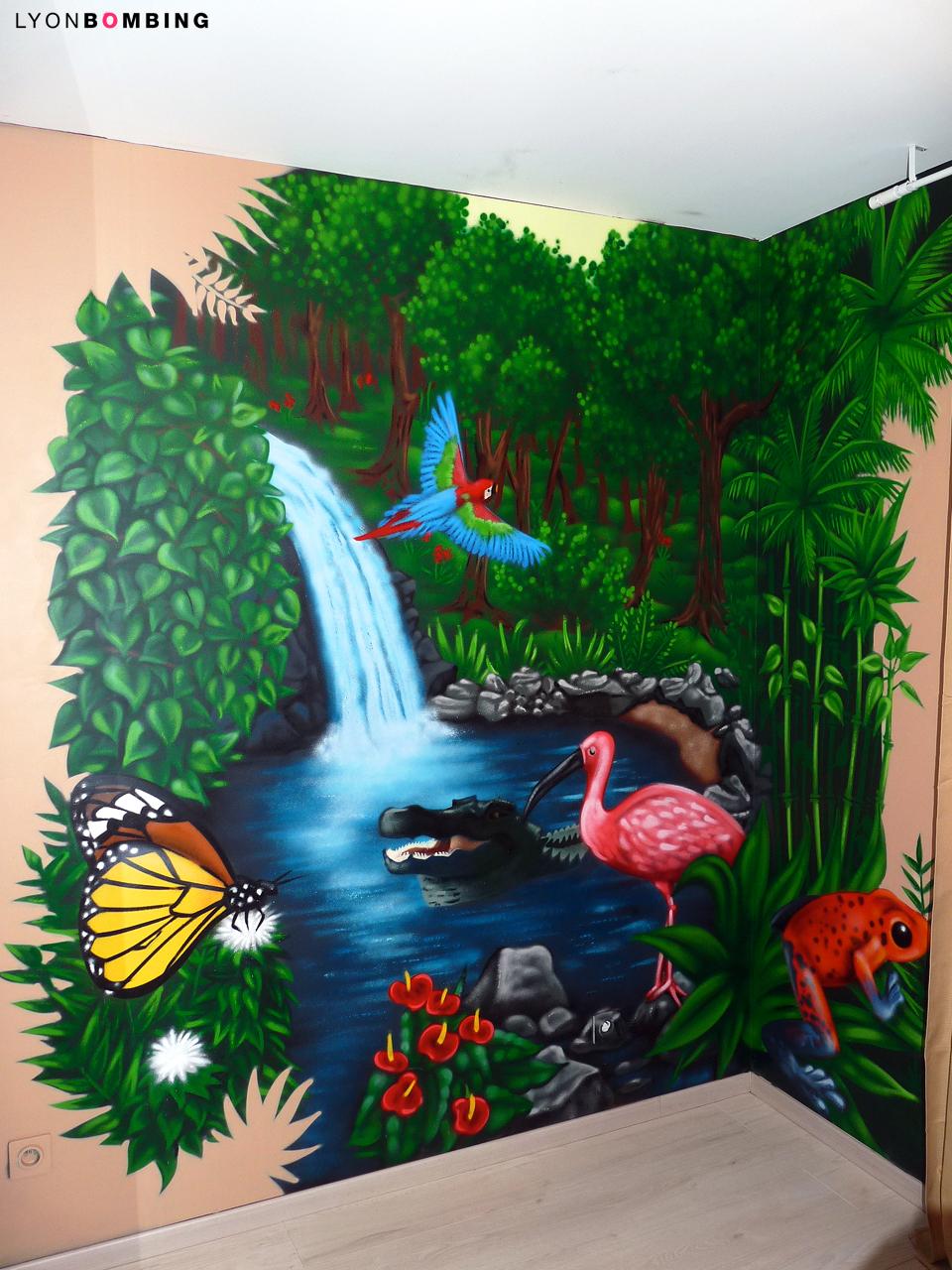 chambre jungle - chambre