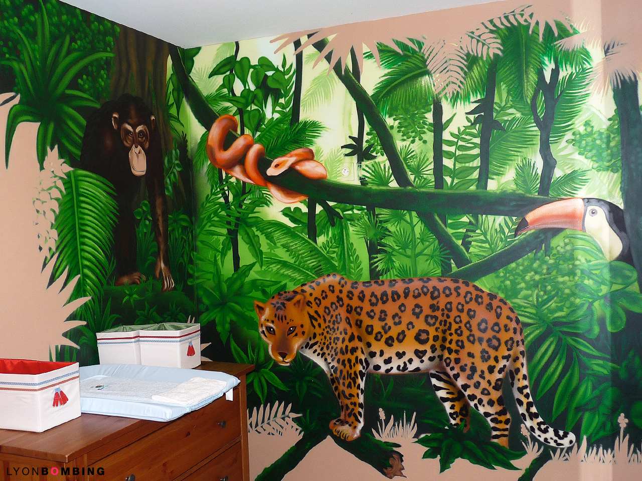 Chambre Jungle - Chambre - LYONBOMBING