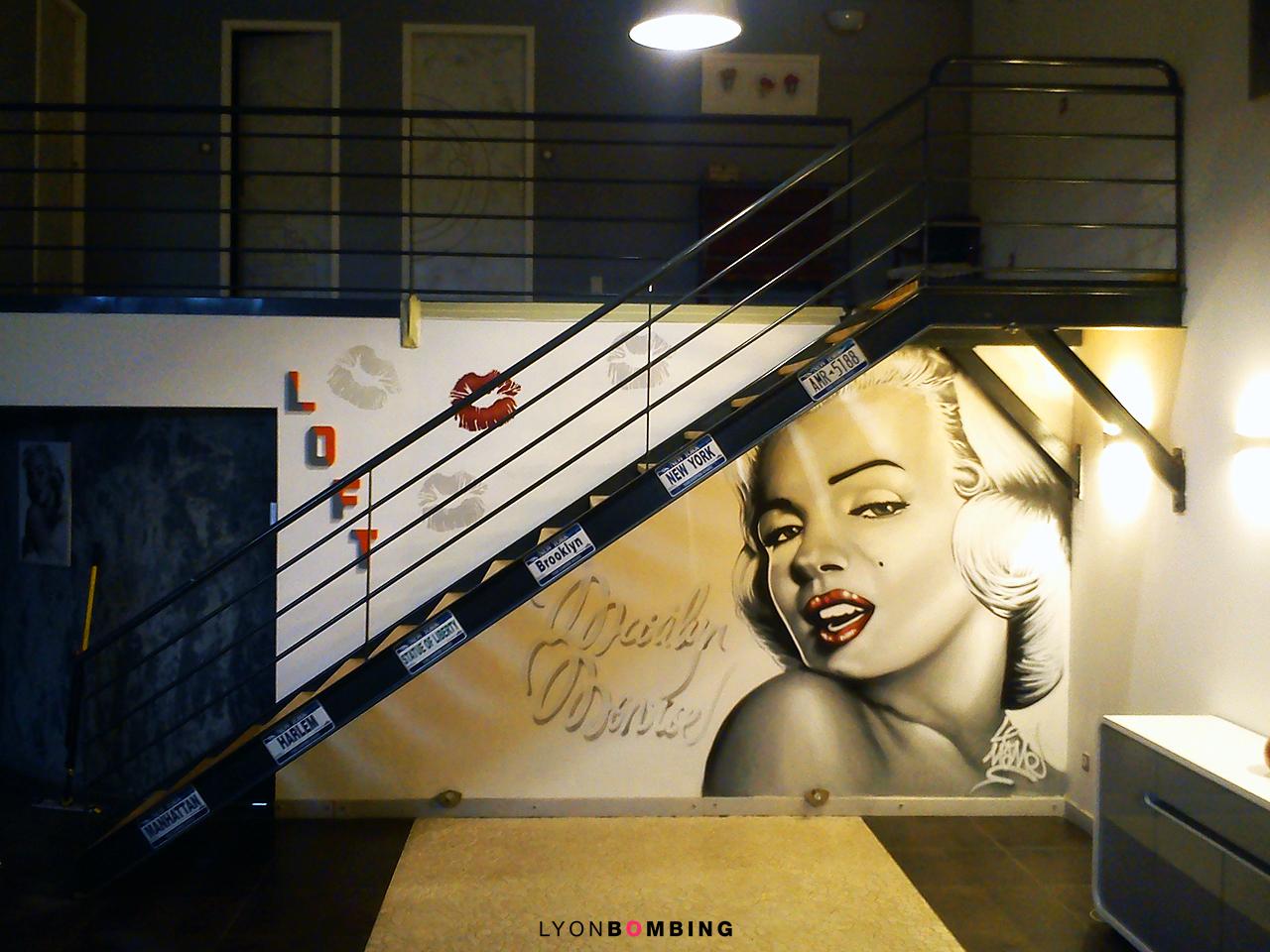 Décoration loft Marilyn Monroe