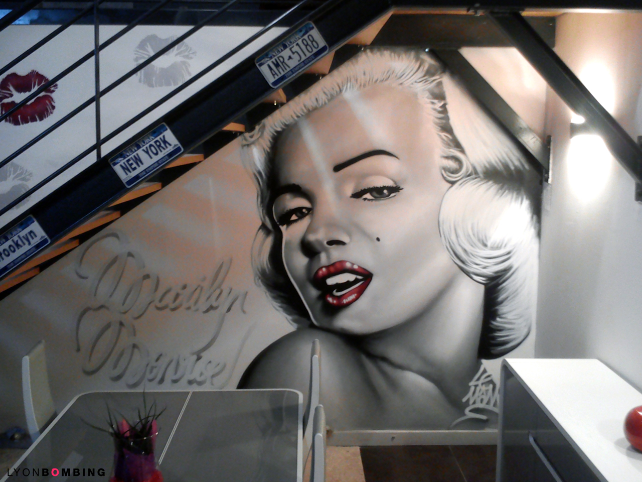 Déco graffiti Marilyn Monroe
