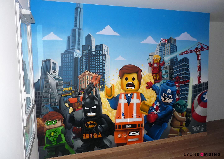 CHAMBRE STREET ART LEGO