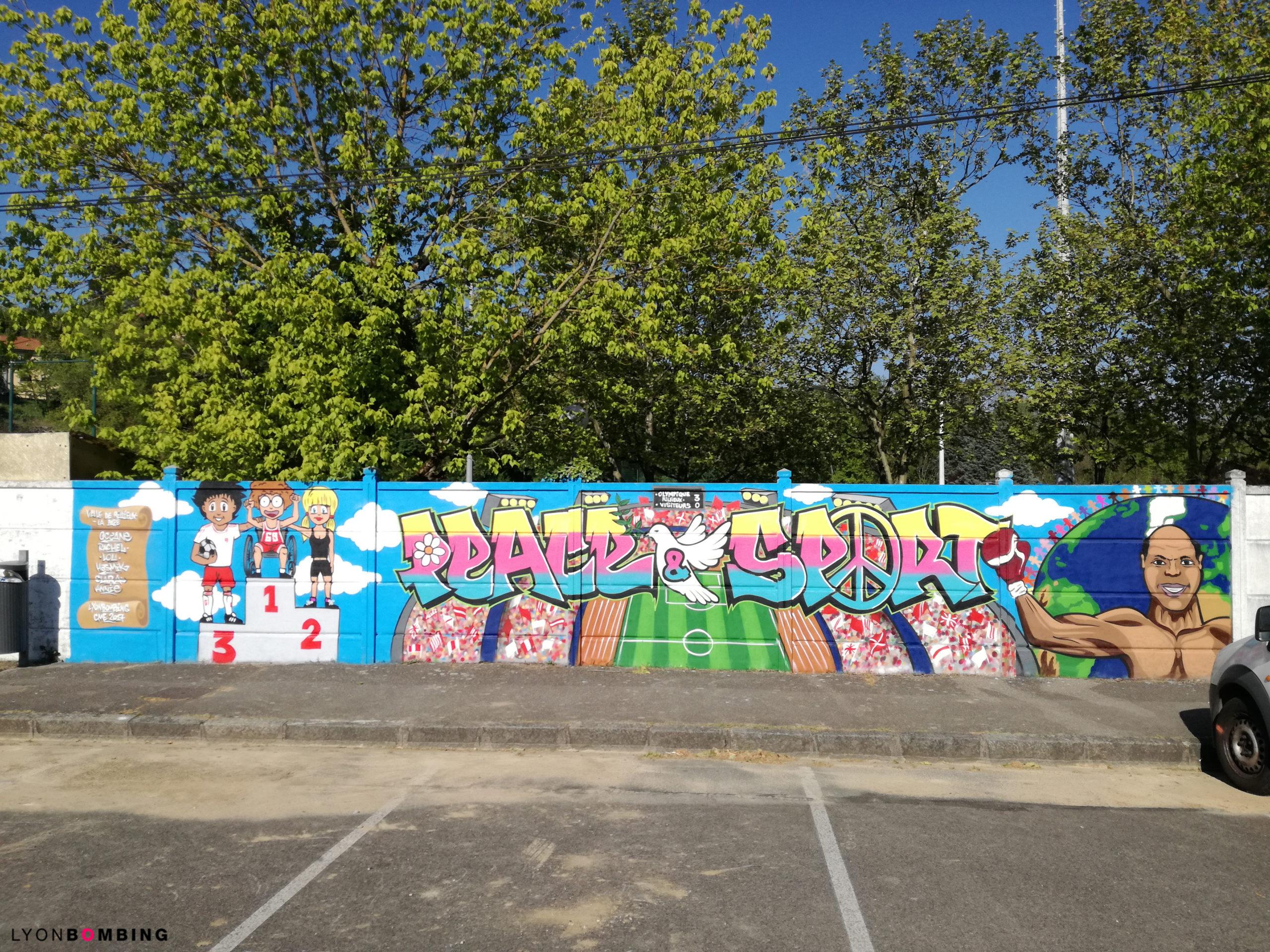 Atelier graffiti Lyon fresque