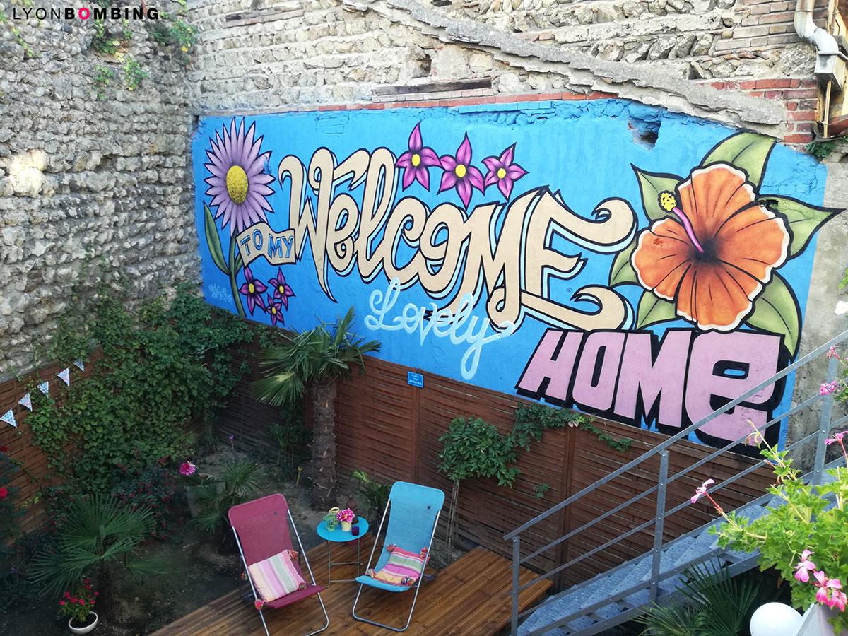 Graffiti Sur Cour Fresques Particuliers Lyonbombing